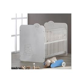 image-Prague Wooden Childrens Bed In White With Bars