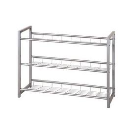 image-Jette 3 Tier Metal Shoe Rack