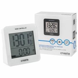 image-Cresta Digital Quartz Alarm Tabletop Clock vidaXL