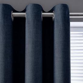 image-Vermont Navy Eyelet Curtains Navy