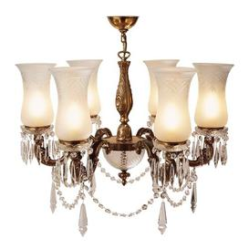 image-Chesterman 6-Light Shaded Chandelier Astoria Grand