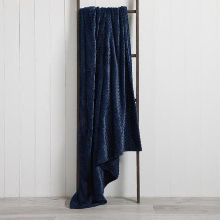 image-Amelia Fleece 150cm x 200cm Throw Blue