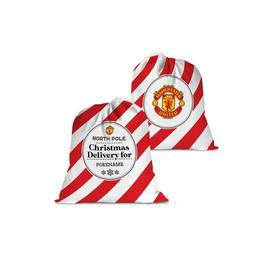 image-Personalised Manchester United FC Christmas Delivery Santa Sack