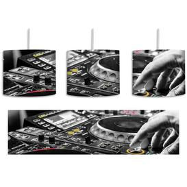 image-Modern DJ Mixing Deck 1-Light Drum Pendant East Urban Home