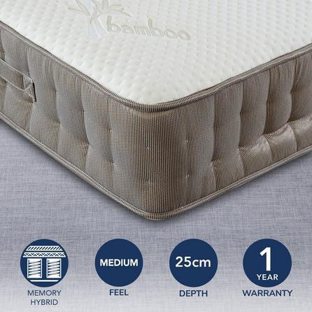 image-Bedmaster Bamboo Vitality 2000 Mattress White