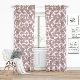 image-Rolanda Eyelet Semi Sheer Single Curtain Ebern Designs