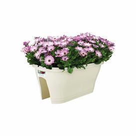 image-Corsica Plastic Balcony Planter (Set of 2) ELHO Colour: White, Size: 24cm H x 29.6cm W x 58cm D