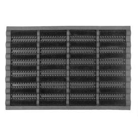image-Black Boot Scraper Doormat Black