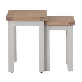 image-Vancouver Compact Grey Painted Nest of 2 Tables