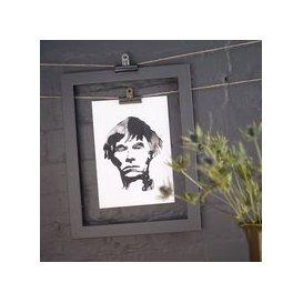 image-Andy Warhol Ink Blot Print (size: A3)
