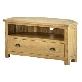 image-Amelia Corner TV Stand August Grove Colour: Oak
