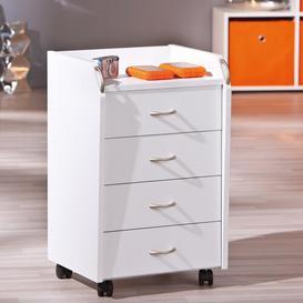 image-Aceline 4 Drawer Filing Cabinet Mercury Row Colour: White