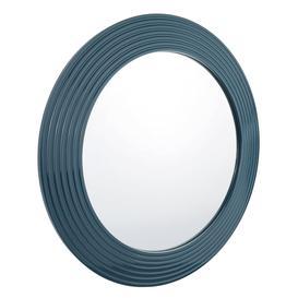 image-Habitat Carlo Petrol Blue Round Wall Mirror
