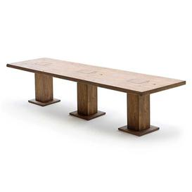 image-Mancinni 400cm Dining Table In Bassano Oak With 3 Pedestals