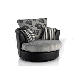 image-Swivel Tub Chair Brayden Studio Upholstery Colour: Grey