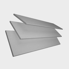 image-Faux Wood Sheer Venetian blind Ebern Designs Finish: Light Grey, Size: 160 cm L  x 45 cm W