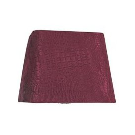 image-10in Croc Velvet Square Shade Red - Dual Fitting