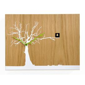 image-Myrtle Cuckoo Clock August Grove Finish: Light Wood/White