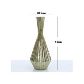 image-51cm Ribbed Vase Gold