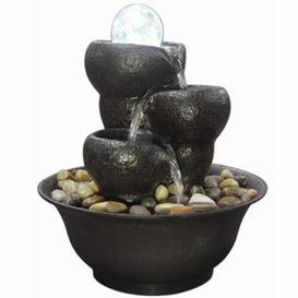 image-Tignall Resin Cascade Fountain with Light Sol 72 Outdoor