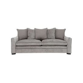 image-Duresta - The Prestige Collection Bayswater 4 Seater Fabric Pillow Back Sofa - Grey