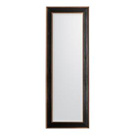 image-Gallery Direct Daltry Mirror Black Leaner