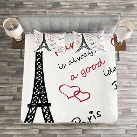 image-Fults Eiffel Bedspread Set with Cushion Cover Ebern Designs Size: W264 x L220cm