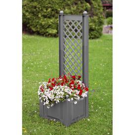 image-Plastic Planter Box with Trellis