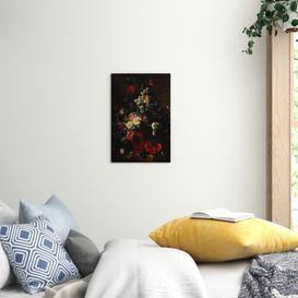 image-'Vase of Flowers' by Jan van Huysum Painting Print on Canvas East Urban Home Size: 50cm H x 35cm W