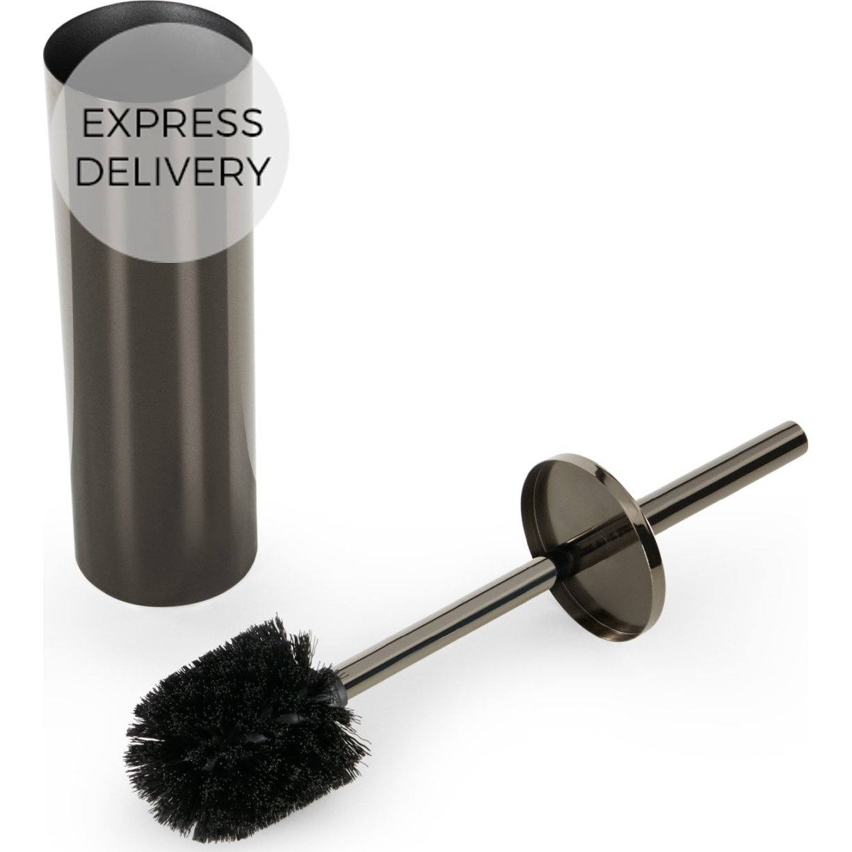 image-Lilo Toilet Brush, Black Nickel