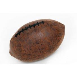image-Faux Leather Rugby Ball Doorstop