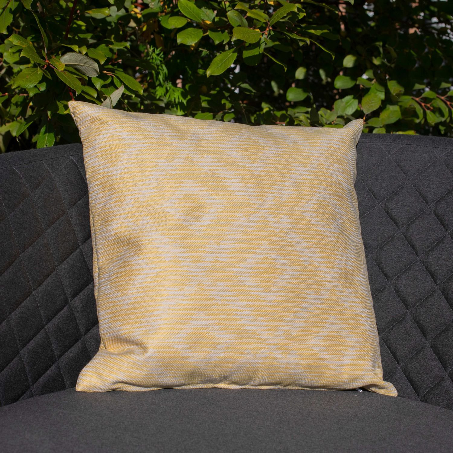 image-Maze Lounge Outdoor Fabric Scatter Cushion in Santorini Yellow Pair