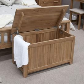 image-Homestyle Opus Oak Blanket Box