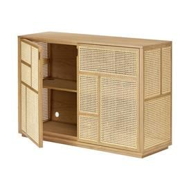 image-Air Dresser - / TV unit - Rattan cane-work - L 120 x H 81 cm by Design House Stockholm Natural oak,Natural rottan