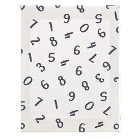 image-Childhood Numbers Sheer Roller Blind Ebern Designs Size: 150cm W x 180cm L