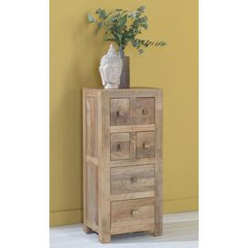image-Dakota Indian Mango Wood Tall CD Storage Media Chest - Light