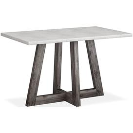 image-Corndell Austin Concrete and Acacia Furniture Rectangular Bar Table