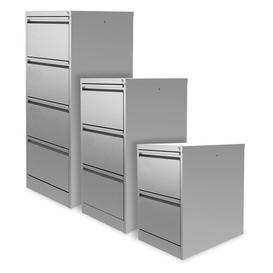 image-Foolscap 4-Drawer Filing Cabinet Symple Stuff Finish: Silver