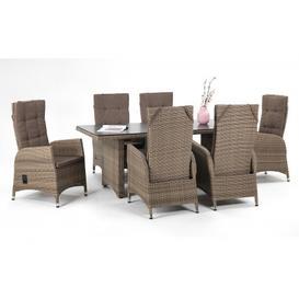 image-Tokio- Reclining 6 Seater Garden Dining Set