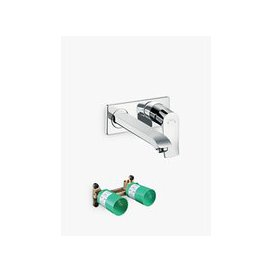 image-Hansgrohe Metris Single Lever Bathroom Basin Mixer Tap with Basic Set, Chrome