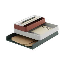 image-Arrange n2 Desk organizer - / 3-piece stackable set by Muuto Multicoloured