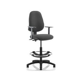 image-Lunar 2 Lever Draughtsman Chair (Adjustable Arms), Charcoal