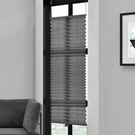 image-Symple Stuff Semi-Sheer Pleated Blind Symple Stuff Colour: Grey, Size: 100cm L x 55cm W