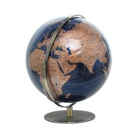 image-World Globe 25 Cm Ebern Designs Size: 50cm H x 42cm W x 42cm D, Globe Colour: Blue/Brown