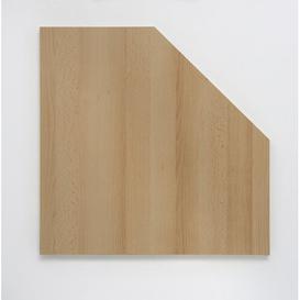 image-Lerman 2.2cm H x 65cm W Desk Corner Plate Extension Symple Stuff Colour: Samerberg beech