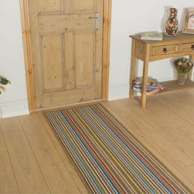 image-Andrews Looped/Hooked Brown Indoor/Outdoor Rug Mercury Row Rug Size: Runner 66 x 270cm