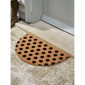 image-Dotty Half Moon Doormat