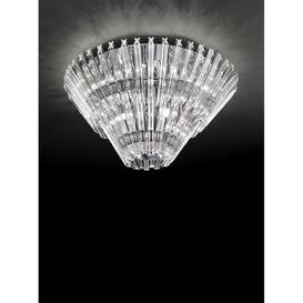 image-F2231/12 Modern 12 Light Flush Crystal Ceiling Light