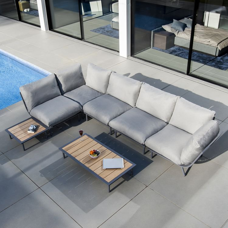 image-Alexander Rose Beach Garden Flint Large Corner Sofa Lounge Set