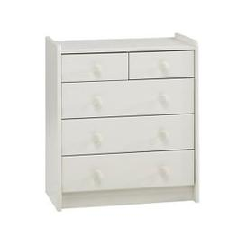 image-Pathos Childrens Chest Of Drawers In White With 5 Drawers